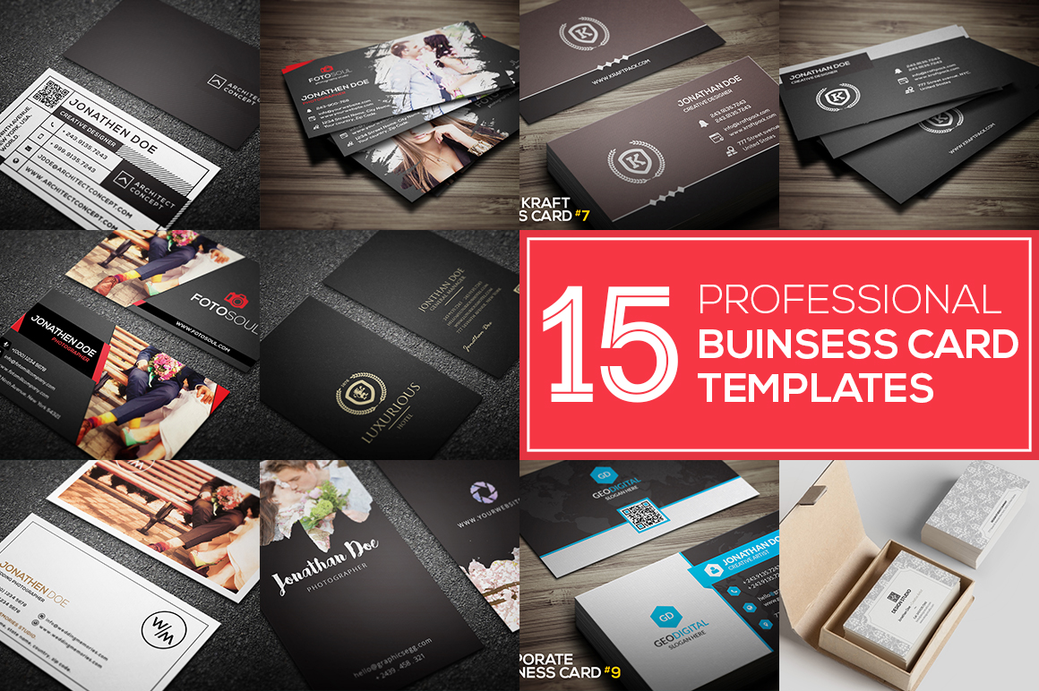 Get 15 PROFESSIONAL BUSINESS CARDS