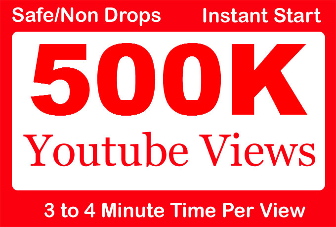 500000 500k Safe YouTube Views With 1000 Likes