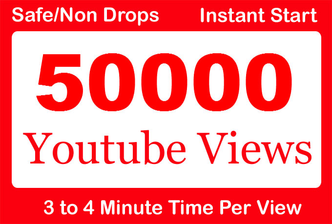 Safe 50,000 or 50k or 50000 YouTube Views