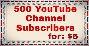 500 Non Drop YouTube channel Subscriers lifetime Guranty
