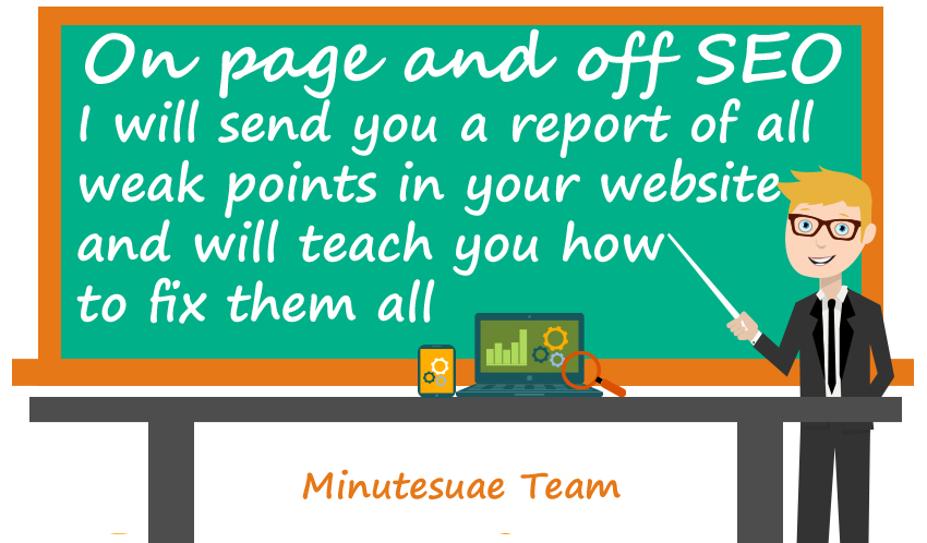 send you off-page and on-page seo report of all weak points in your website