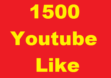1500+ YouTube Video Likes offer, split available and super fast delivery just
