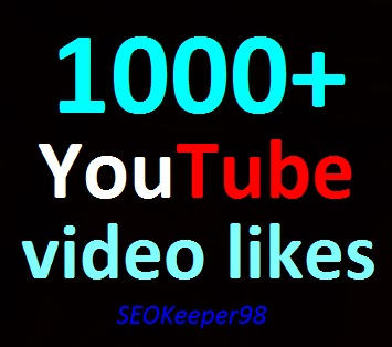 1000+ YouTube Video Likes real, split, 6-10 hours in complete just