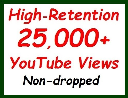 20,000+ to 25,000+ YouTube Vie 'ws fully safe+500 video Lik es extra all non-dropped guaranteed
