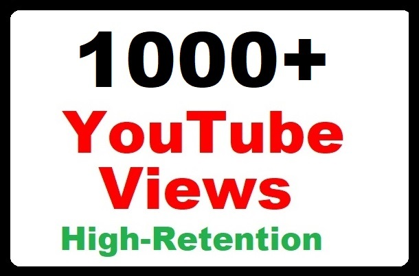 1000+ YouTube Views High Quality and Real Video Promotion Faster delivery