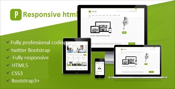 Create responsive html website template