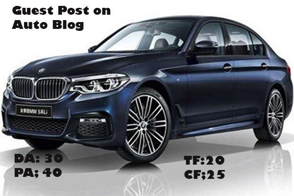 Publish 3 Guest Posts on 3 Auto Blogs of DA 30