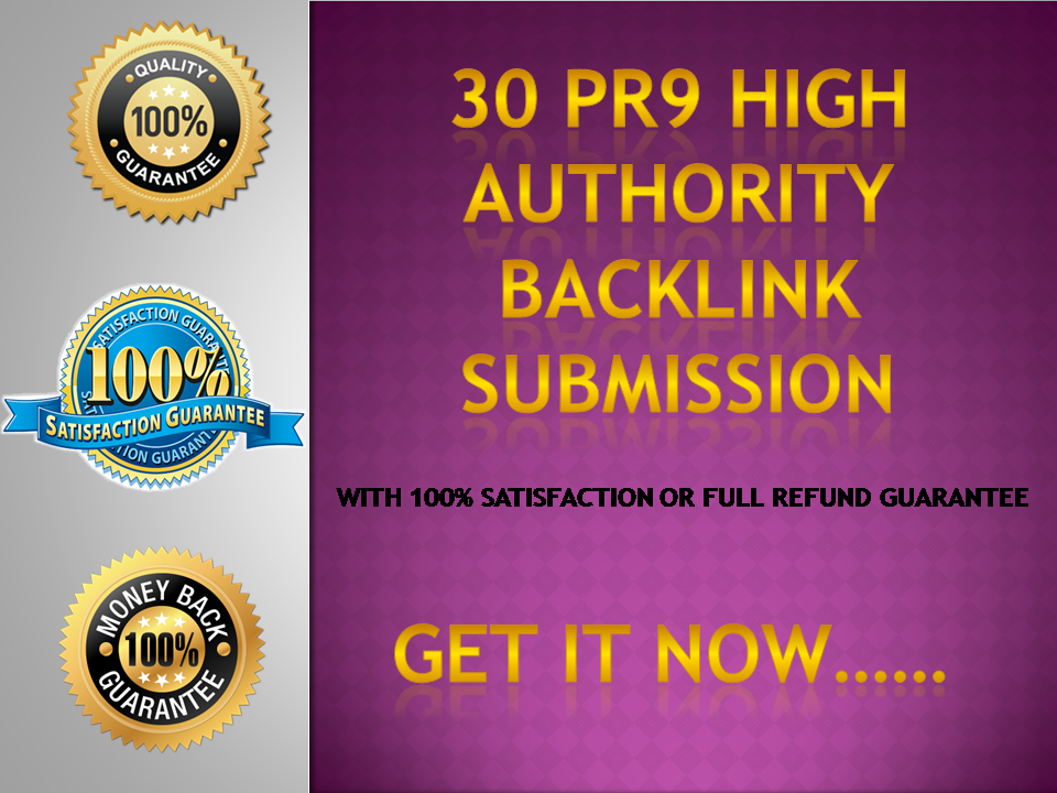 Push your website to the top of google ranking with 30 high PR9 SEO backlinks