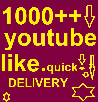 Bumper offer 1000++ youtube  like only for
