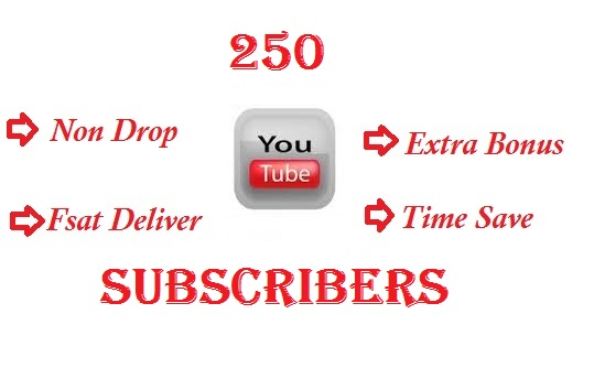 Get Buy 250+ YouTube Channel Subscribers