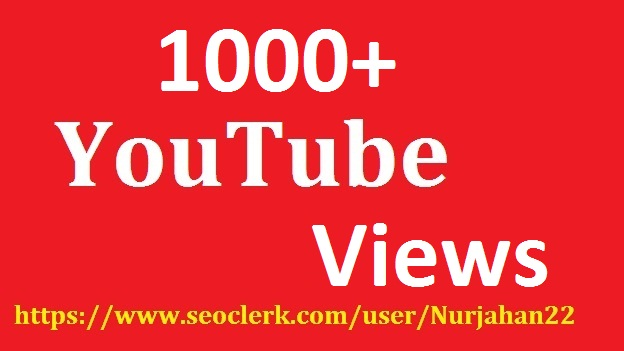 Add 1000+Real YouTube Views +40YouTube Likes  Bouns 24-30 Hours in Delivery