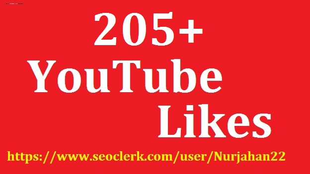 Add 205+YouTube  Likes 5-10 Hours in Delivery