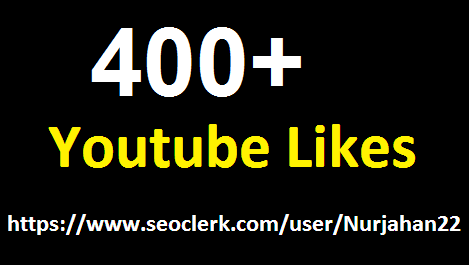 Add 350 To 400 +Real YouTube Likes 5-10 Hours in delvery