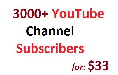 Safe 3000 Non Drop YouTube Subscribers