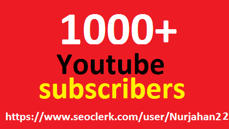 Safe 1000+Real Non Drop YouTube Subscribers  in delivery