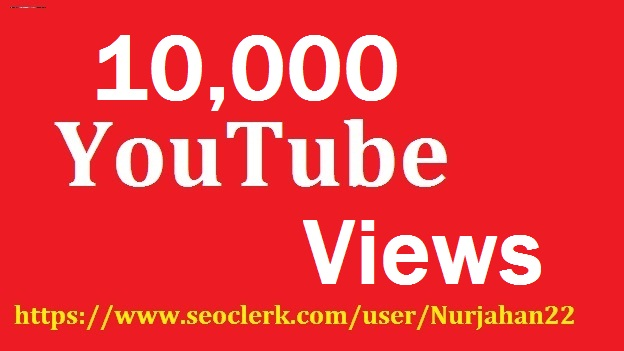 Safe 10,000+Real Non Drop YouTube Views +15 Bonus YouTube likes 30-35 Hours in delivery