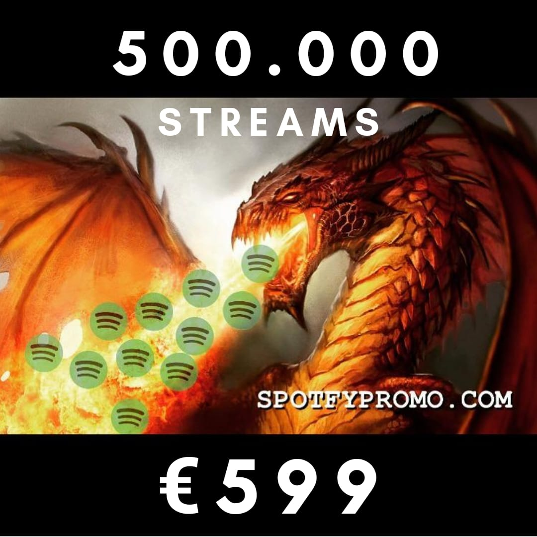 BIG CAMPAIGN 500.000 Stream PLAY Music Spotfy for 999