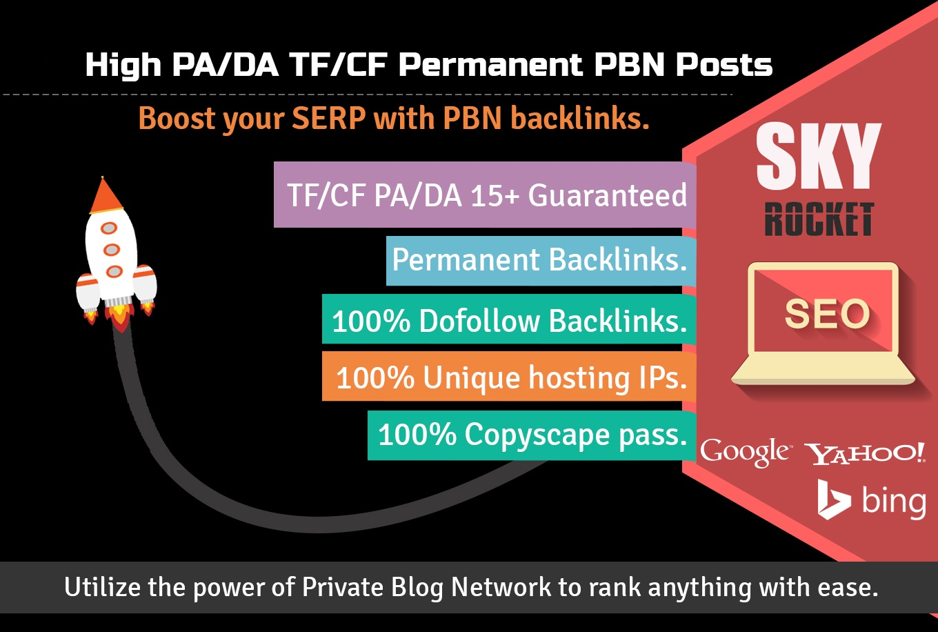 Create 12 High PA/DA TF/CF Homepage PBN Backlinks To ...