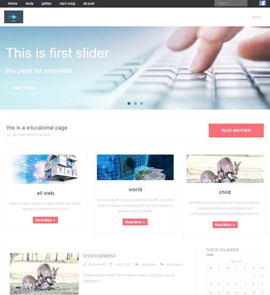 Install wordpress, Theme and plugin