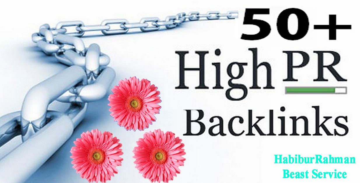 Special I will give you 50+ High PR Backlinks - For Only Bloge Comment