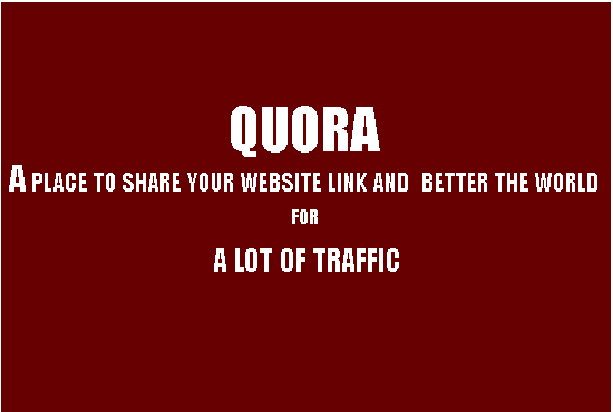 promote your website with 5 more viewed quora answer