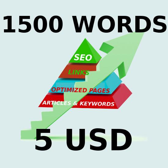 1500 words Seo article 100 percent unique