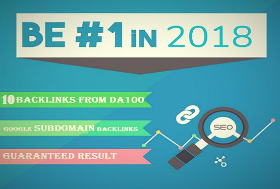 10 Backlinks From Google Subdomain Da100