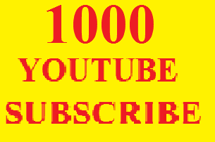 Instant 1000 You-tube subs-scribes 24-48 Hours Delivery