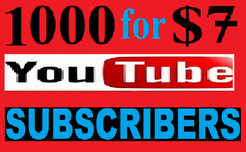 Manually 1000 phone verify You-Tube channel subs-cribers fast Delivery