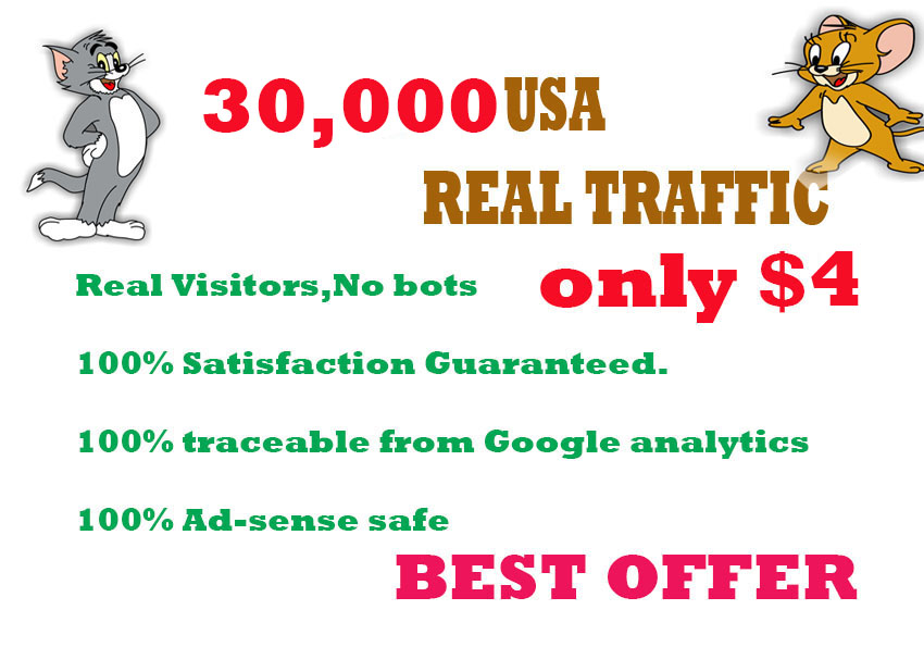 30,000 HUMAN TRAFFIC BY   Google, Twitter, Youtube and any more to web site