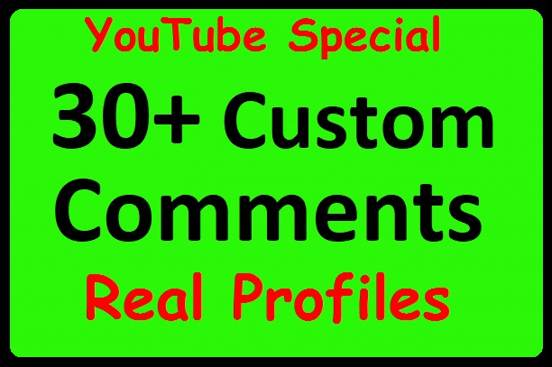 30+ YouTube Video Commants with Profile Pictures, Safe Promotion just