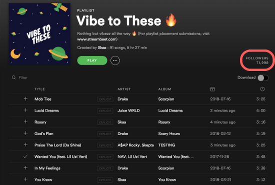 Add Your Track To 70k followers Spotify Playlist 2 weeks placement