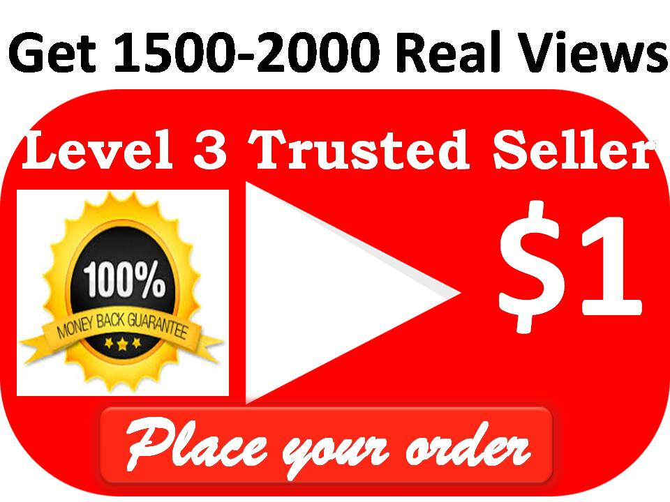 Get Non-drop Unique 2000-2100 High Quality Views Video  with 10 Likes within 12-24 houres