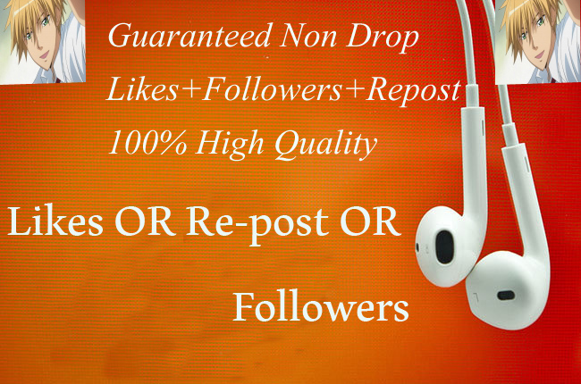 guaranteed Non Drop sc Five Hundered Likes OR Reposts OR Followers fast,non drop,safe