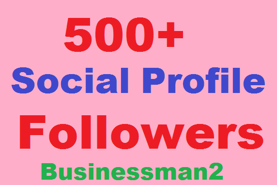 500+ Social Profile Followers High Quality