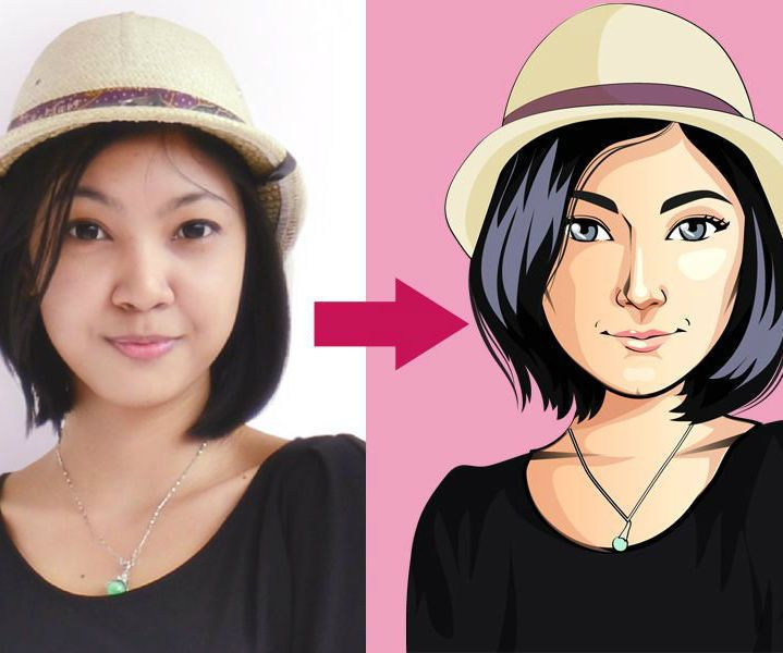 Draw A Cute Cartoon Of Your Photo