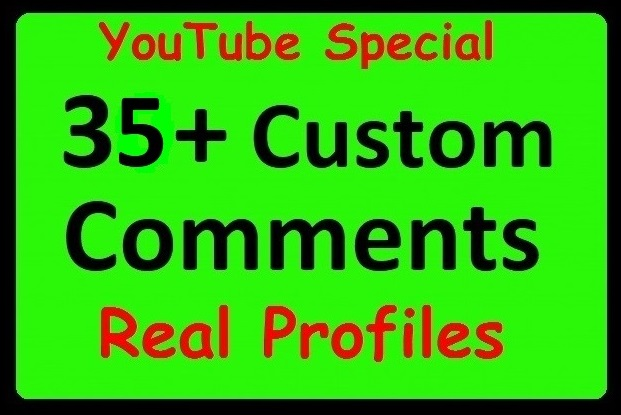 35+ YouTube Custom Comments with Profile Pictures Real Video Promotion just