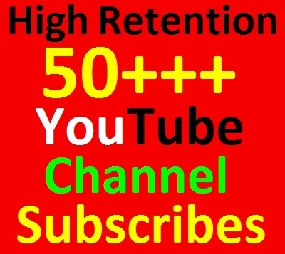 50++ YouTube Channel Subscribers Non-dropped Guaranteed just