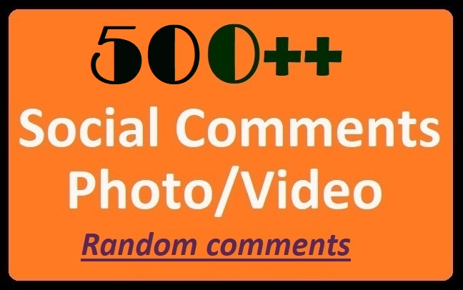 Instant Start,  500+ HQ Comments on Social Post Videos Positive,  Randomly