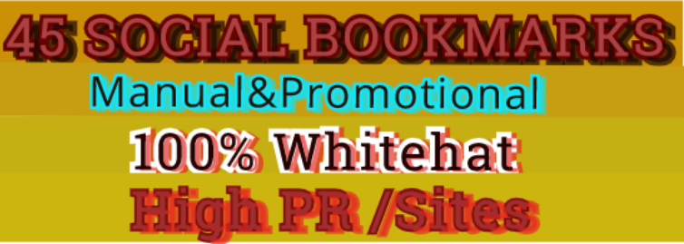 Give You Manual 45 Social Bookmarking From High Page Rank/PR Sites