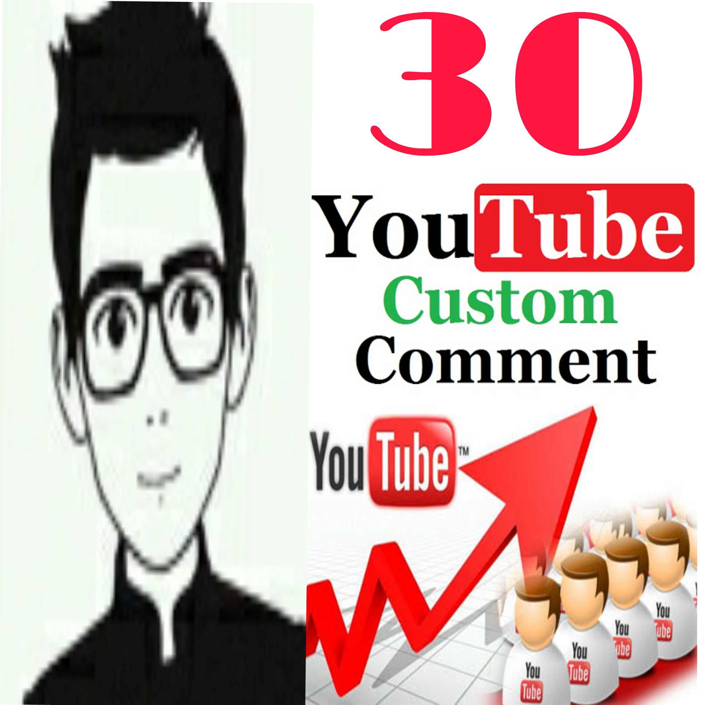 Provide 30+ Y ,T custom comment human verified must be profile picture  non drop very fast in 1-2 hours