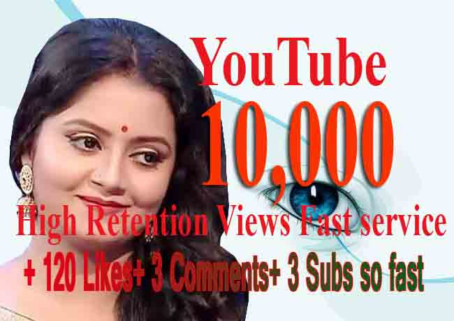 Instant 5000 views +120 Likes+15 Comments+15 Subscribers