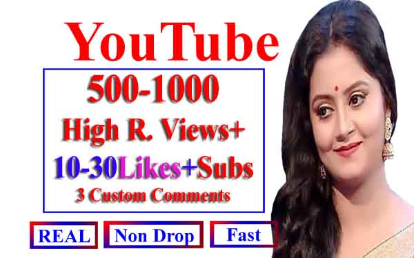 Non Drop Organic High Quality YouTube Video Promotions