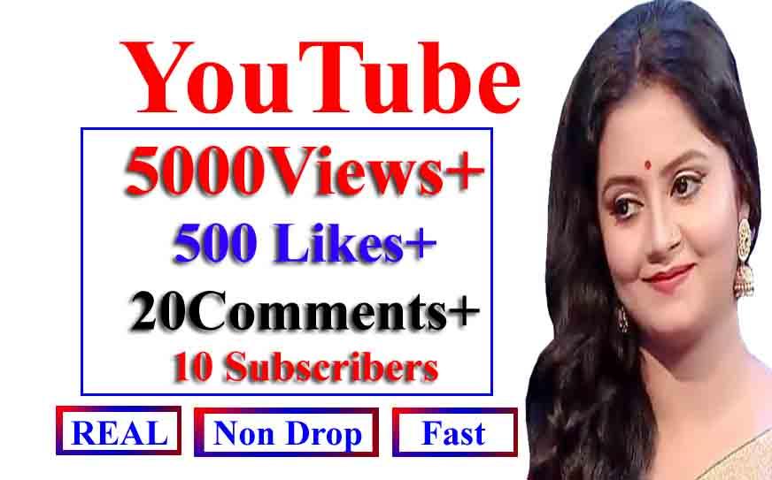 Instant Y0utube 5000-6000 V_iews+ 500 Llkes+ 20Commts+ 20 Subs