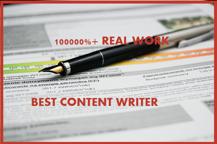Write Original And Effective Content Up To 1000 Words