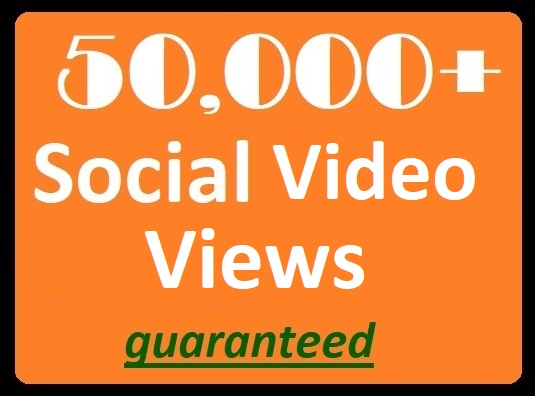 50,000+ Social Views to posted videos High-quality Promotion Best price