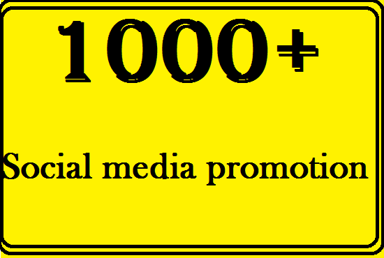 Get 1000 social media promotion with in short time