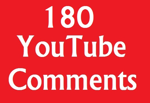 Instant 180+ YouTube Comments on your video very fast adding
