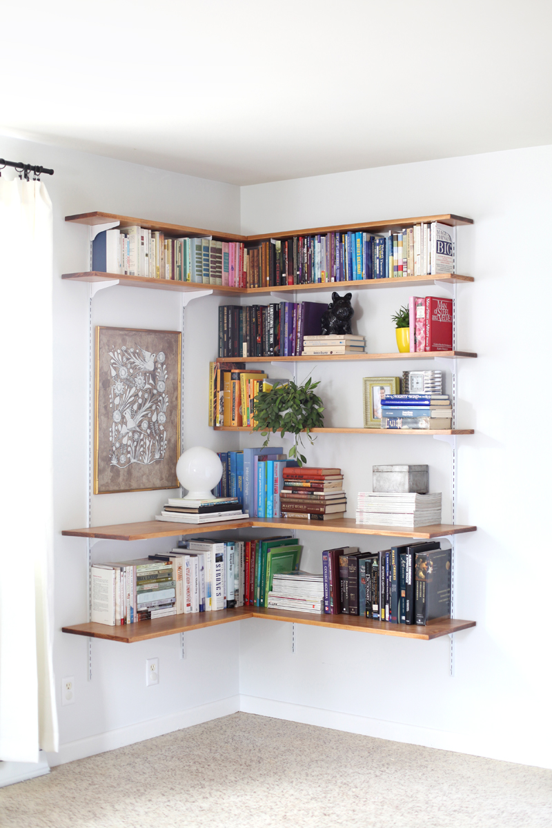 How to build a Fashionable Corner Shelf for Drawing Room?