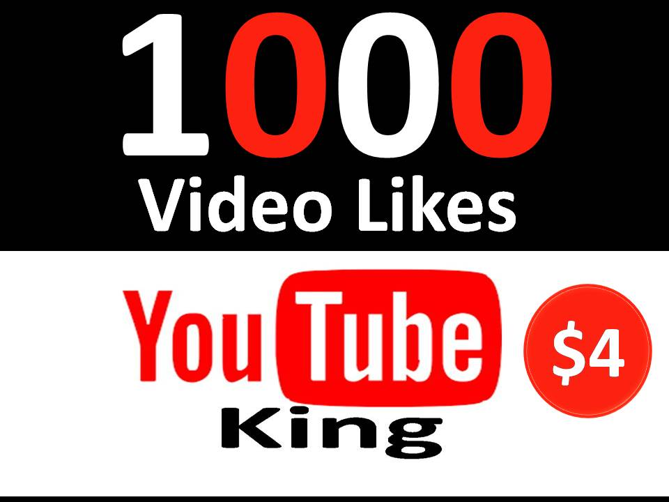 1000 Youtube Video Likes with 12-24 Hours  Delivery
